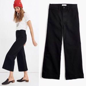 Madewell Emmett Wide Leg Crop Pants in Black 27